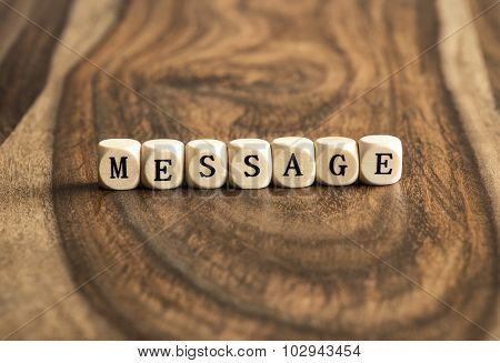 Word Message On Wooden Cubes