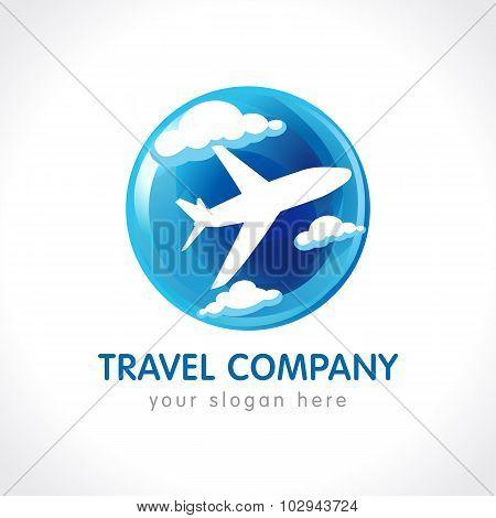 Travel company globe logo