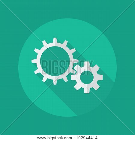 Technology Flat Icon. Gears