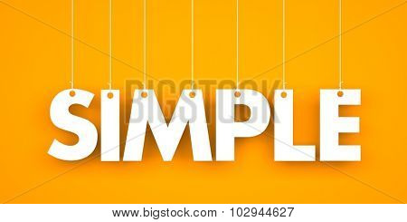 Simple word hanging on the string