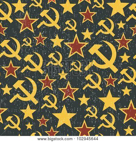 Soviet Union signs pattern.