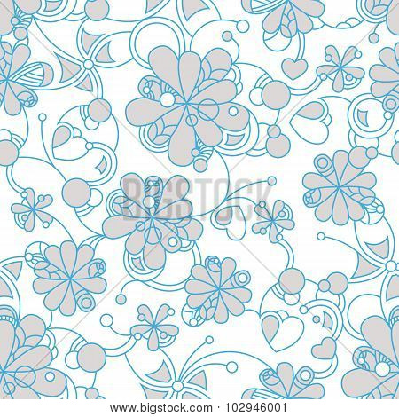 Floral seamless background pattern for continuous replicate