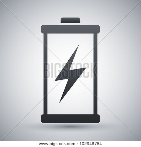 Discharged Battery Icon, Vector
