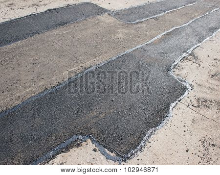Laying New Asphalt Patching Method