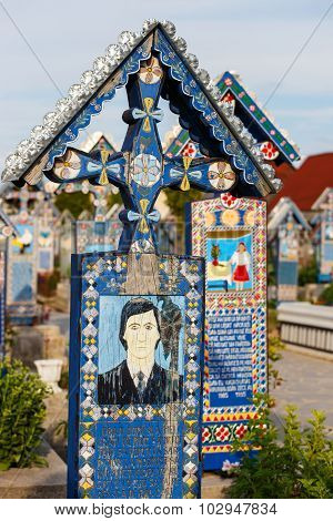 The merry cemetery of Sapanta Maramures Romania