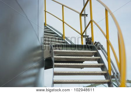 Stair Beside Tank For Operation Service.