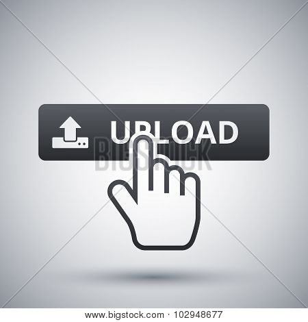 Vector Upload Button