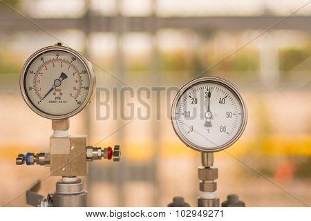 Gas Circular Industrial Pressure Gauges
