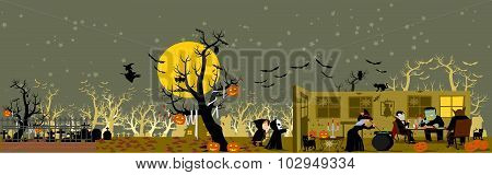Long Halloween Background