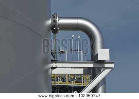 Pipe Support For Water Tank.