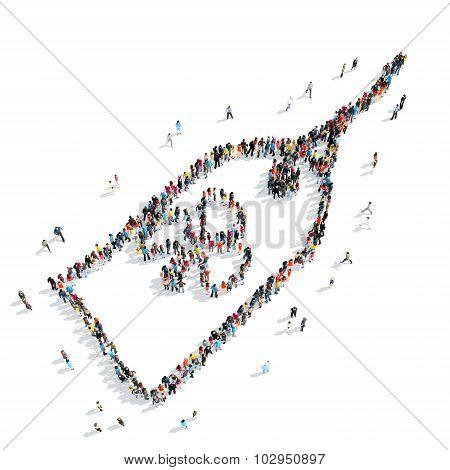 people shape  tag crowd