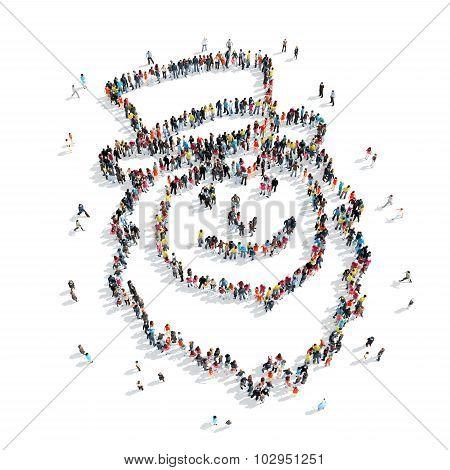 group  people form  leprechaun