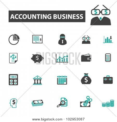 accounting business icons