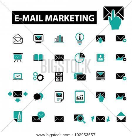 e-mail marketing, envelope, message icons