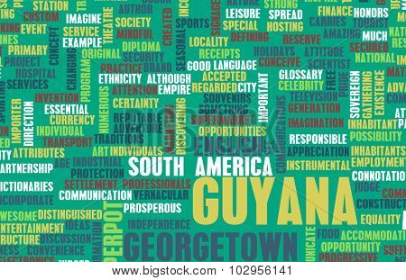 Guyana as a Country Abstract Art Concept