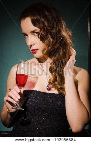 Retro Portrait Of The Fashionable Women