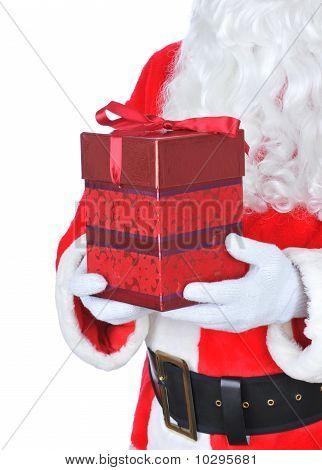 Papai Noel segurando presentes