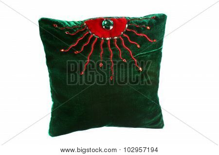 Green Designer Pillow