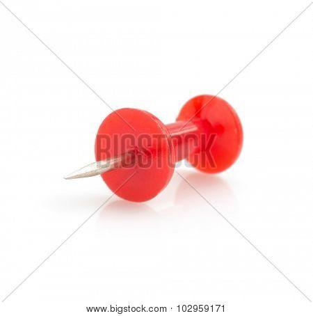 pushpin isolated on white background