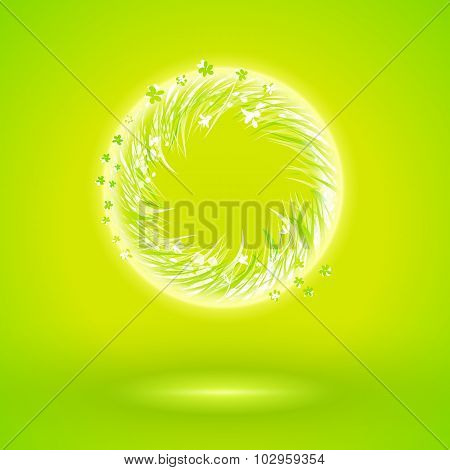 Ecology Ring Way With Grow Grass Illustration