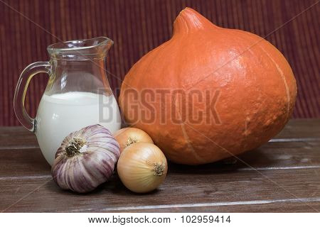 Ingredients To Cooking  Creamy Pumpkin Soup