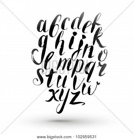 Ink Calligraphy English Alphabet