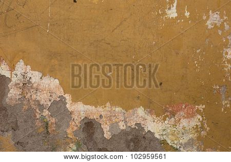 Damaged Textured Wall From Stone In Rome
