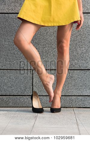 Woman's legs in full length