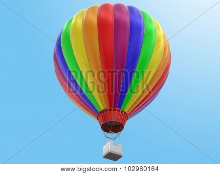 Hot Air Balloon (clipping path included)
