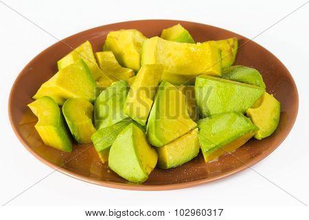 Jamaican Avocado Healthy Snack