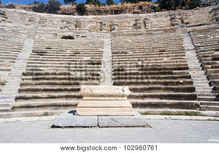 The ruins of the ancient theater