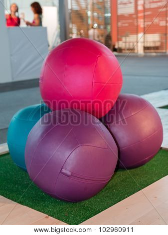 Leather Colorful Fitness Ball