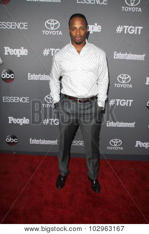 LOS ANGELES - SEP 26:  Cornelius Smith Jr at the TGIT 2015 Premiere Event Red Carpet at the Gracias Madre on September 26, 2015 in Los Angeles, CA