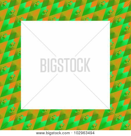 Abstract orange green geometric photoframe