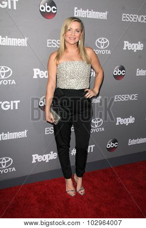 LOS ANGELES - SEP 26:  Jessica Capshaw at the TGIT 2015 Premiere Event Red Carpet at the Gracias Madre on September 26, 2015 in Los Angeles, CA