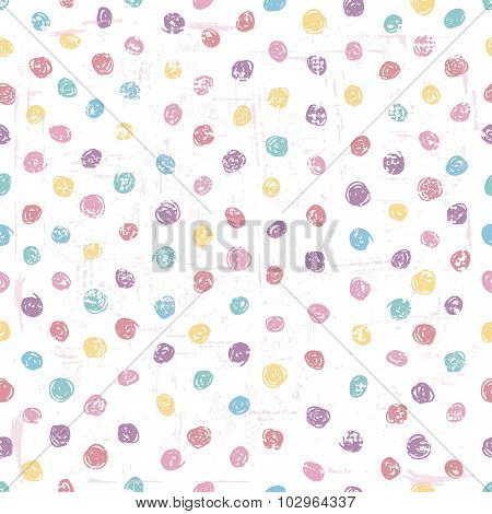 Hand Drawn Polka Dot Seamless Pattern
