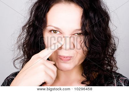 Grimacing Funny Woman
