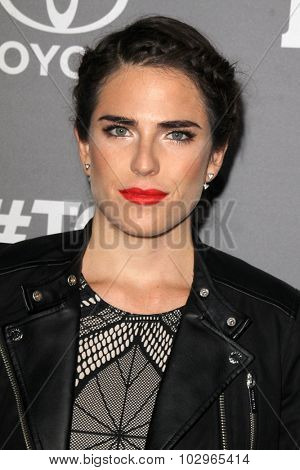 LOS ANGELES - SEP 26:  Karla Souza at the TGIT 2015 Premiere Event Red Carpet at the Gracias Madre on September 26, 2015 in Los Angeles, CA