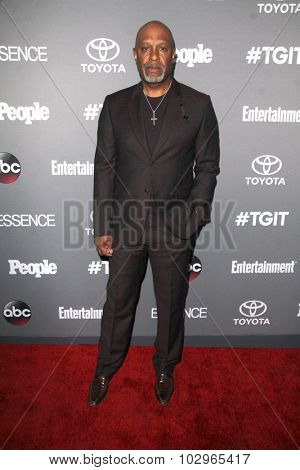 LOS ANGELES - SEP 26:  James Pickens Jr. at the TGIT 2015 Premiere Event Red Carpet at the Gracias Madre on September 26, 2015 in Los Angeles, CA
