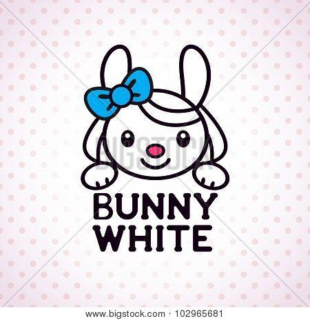 Little white bunny girl