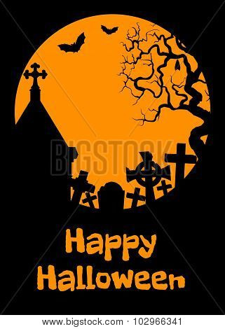 Halloween card with cript