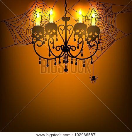 chandelier and spiderweb