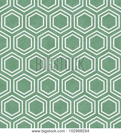 Green And White Hexagon Tile Pattern Repeat Background