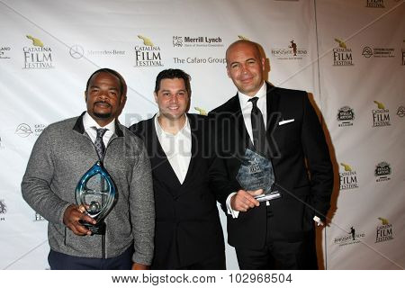 LOS ANGELES - SEP 25:  F. Gary Gray, Ron Truppa, BIlly Zane at the Catalina Film Festival Friday Evening Gala at the Avalon Theater on September 25, 2015 in Avalon, CA