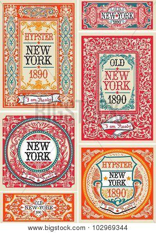 Hipster Labels 01 Vintage 2D