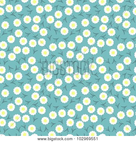 Simple And Beauty Flower Seamless Pattern. Vector Illustration Good For Textile And Paper Wrapping P