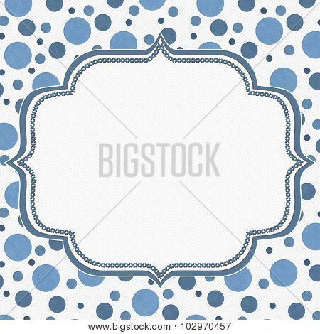 Blue And White Polka Dot Frame Background