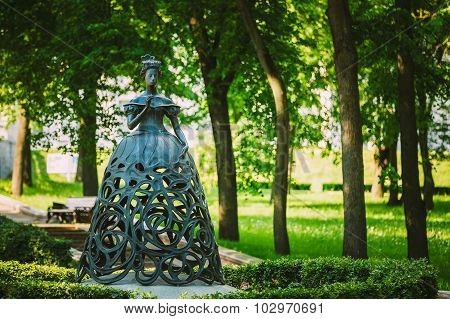 The Muse of the opera - sculpture in park near The National Academic Bolshoi Opera and Ballet Theatr