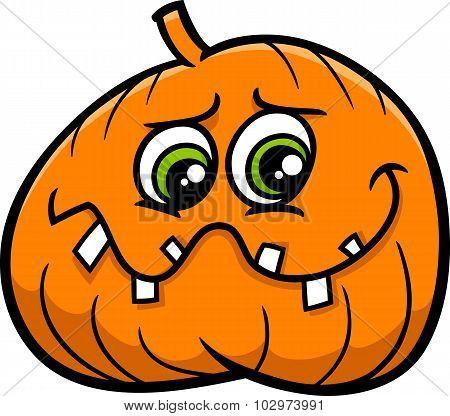 Holiday Pumpkin Cartoon
