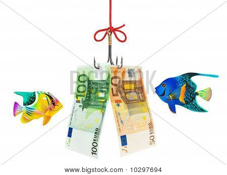 Fishing hook and money